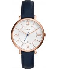 Fossil ES3843 レディースジャクリーン・ブルーレザーストラップの腕時計
