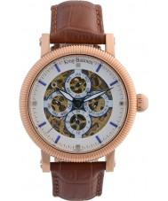 Krug-Baumen 60252DM メンズ雄大なブラウンレザーストラップの腕時計
