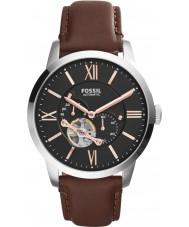 Fossil ME3061 メンズ町民茶色の革自動巻きの時計