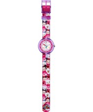 Flik Flak FLNP026 女の子ディズニーTSUM TSUM色とりどりの織物ストラップ時計
