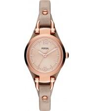 Fossil ES3262 レディースジョージア砂のレザーストラップの腕時計