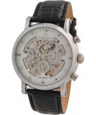 Edward East EDW5342G5 古典的なブラックレザーストラップ、自動腕時計メンズ