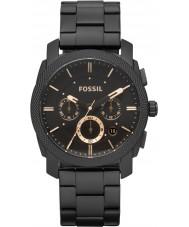 Fossil FS4682 メンズ機械黒クロノグラフウォッチ