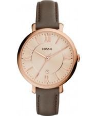 Fossil ES3707 レディースジャクリーン・グレーレザーストラップの腕時計