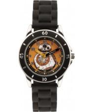 Disney SWM3046 黒のシリコーンストラップボーイズBB-8の時計