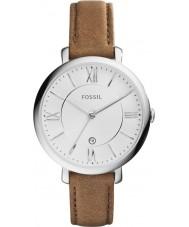 Fossil ES3708 レディースジャクリーン・ブラウンレザーストラップの腕時計