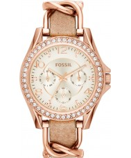 Fossil ES3466 レディースは砂革ストラップ時計をライリー