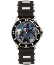 Disney SWM3076 ボーイズストームトルーパーは、黒のシリコーンストラップ時計
