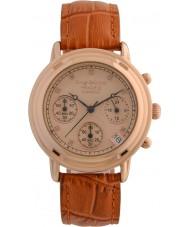Krug-Baumen 150575DL 原理ダイヤモンドレディースゴールドクロノグラフ時計をバラ