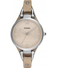 Fossil ES2830 レディースジョージア砂のレザーストラップの腕時計