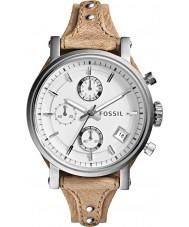 Fossil ES3625 レディース元ボーイフレンドクロノグラフ骨レザーストラップの腕時計