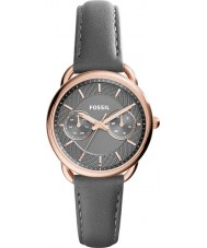 Fossil ES3913 グレーレザーストラップの腕時計テーラーレディース