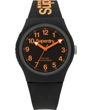 Superdry SYG164B アーバンブラックのシリコーンストラップ時計