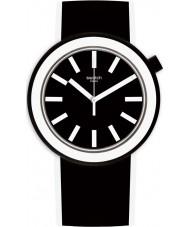 Swatch PNB100 黒のシリコーンストラップ時計をPoplooking