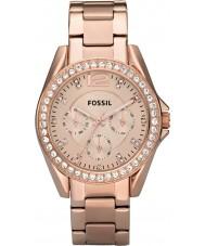 Fossil ES2811 レディースはライリー金鋼クロノグラフ時計をバラ