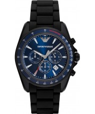 Emporio Armani AR6121 メンズスポーツ黒の混合ストラップ時計
