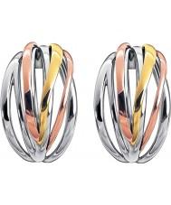 Calvin Klein KJ1RDE300100 レディース鮮明な3色のミックスフープピアス