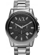Armani Exchange AX2092 メンズ黒銀クロノグラフドレスウォッチ