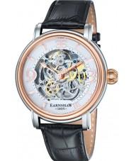 Thomas Earnshaw ES-8011-06 メンズlongcase黒クロコ革ストラップの時計