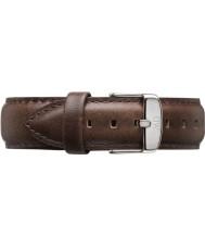 Daniel Wellington DW00200023 メンズ古典的なブリストル40ミリメートルシルバーブラウンレザースペアストラップ