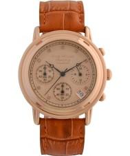 Krug-Baumen 150575DM 原理ダイヤモンドメンズゴールドクロノグラフ時計をバラ
