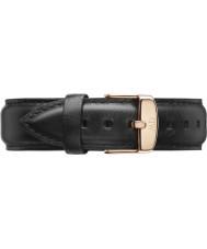 Daniel Wellington DW00200007 メンズ古典的な40ミリメートルのシェフィールドはゴールドブラックレザースペアストラップをバラ