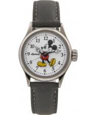 Disney by Ingersoll 25570 レディースクラシックなミッキーマウスグレーヌバックストラップ時計