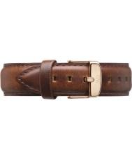 Daniel Wellington DW00200006 メンズ古典的な40ミリメートル番目のモースは金薄茶色の革スペアストラップをバラ