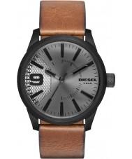 Diesel DZ1764 メンズやすりライトブラウンレザーストラップの腕時計