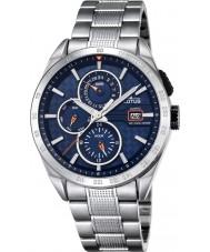Lotus L18244-5 メンズ銀多機能腕時計