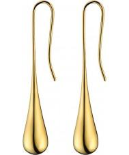 Calvin Klein KJ3QJE100100 レディース楕円ゴールドのイヤリングメッキ