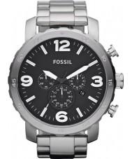 Fossil JR1353 メンズネイトクロノグラフ黒鋼の時計