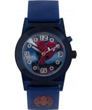 Disney SPD3425 少年は青いシリコーンストラップ付き究極のスパイダーマン点滅時計を驚嘆します
