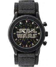 Disney STW1301 星空ダイヤルで男の子黒ベルクロ時計