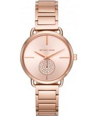 Michael Kors MK3640 レディースポーシャは、金メッキブレスレットの時計をバラ