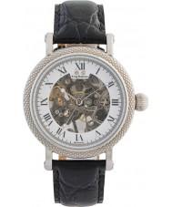 Krug-Baumen 60112DM メンズ威信ブラックレザーストラップの腕時計