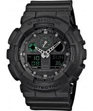 Casio GA-100MB-1AER メンズG-SHOCKマットブラック樹脂ストラップ時計