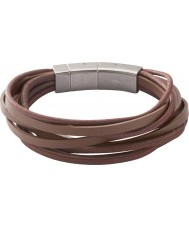 Fossil JF86202040 メンズは、マルチ茶色のブレスレットをラップ