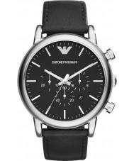 Emporio Armani AR1828 メンズ古典的なクロノグラフ黒の時計
