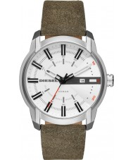 Diesel DZ1781 メンズarmbarグリーンレザーストラップの腕時計