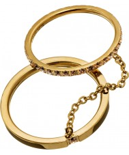 Edblad 41530045-M レディース光沢のある金の指輪 - サイズp(メートル)