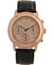 Krug-Baumen 150577DM 原理ダイヤモンドメンズゴールドストラップ時計をバラ