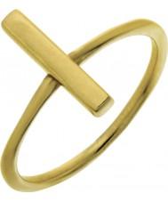 Nordahl Jewellery 125225-52 レディースゴールド金色のピンリング - サイズL