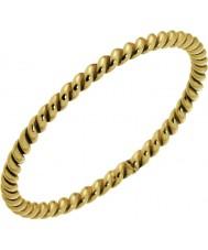 Nordahl Jewellery 125229-52 レディースゴールド金色の螺旋状のリングをメッキ - サイズL