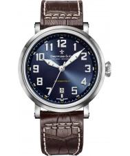 Dreyfuss and Co DGS00153-52 メンズ1924ブラウンレザーストラップの腕時計