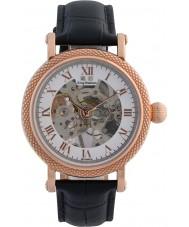 Krug-Baumen 60152DM メンズ威信ブラックレザーストラップの腕時計