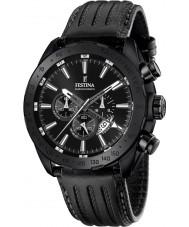 Festina F16902-1 メンズ威信ブラックレザークロノグラフウォッチ