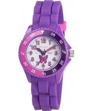 Tikkers TK0041 女の子紫色の時間教師の蝶の腕時計