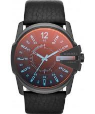 Diesel DZ1657 メンズマスターチーフブラックレザーストラップの腕時計
