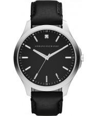 Armani Exchange AX2182 メンズドレスブラックレザーストラップの腕時計
